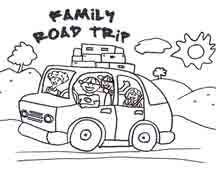 road trip usa coloring pages - photo#2