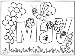 may coloring pages for preschoolers - photo#1