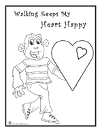 healthy heart coloring pages | Valentine • February • Hearts | Printables • Recipes ...