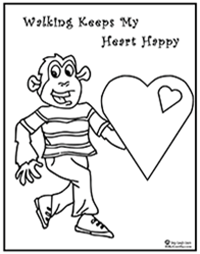 healthy heart coloring pages | Kids Educational Music | Printable Coloring Pages ...