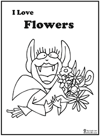 Clickc to download and print Betty Bat coloring page