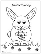 Click image to download and print bunny coloring page