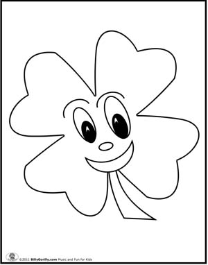Four leaf clover coloring pictures free coloring pages for Four leaf clover coloring page