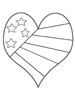 valentine     february     hearts printables     recipes early education teacher resources Big Heart Coloring Pages  Coloring Pages Stars And Hearts