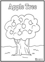 apple tree coloring pages - photo#20